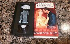 SHAKESPEARE IN LOVE RARE VHS TAPE! 1996 Chicago Elizabeth Anonymous Argo