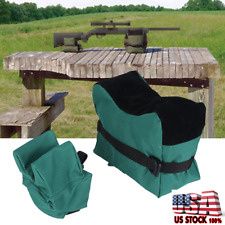 Unfilled Front & Rear Shooters Refle Gun Rest Sand Bags Shooting Bench Sandbag