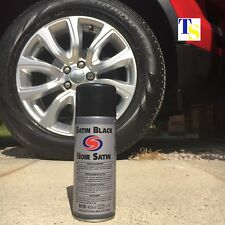 Autosmart Satin Black (Black spray paint for car metals plastics) TRADE