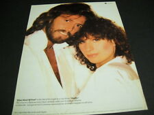 BARRY GIBB abd BARBRA STREISAND are Fools.... original 1981 PROMO POSTER AD mint