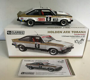 1978 BATHURST 2ND PLACE HOLDEN A9X TORANA #6 GRICEY LEFFLER WITH DECALS 1:18