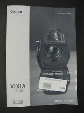Canon Vixia Hf G20 / Hfg20 Camcorder Instruction Book / Manual / User Guide