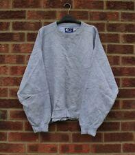 Vtg grey sweater Starter American sports plain jumper sweatshirt oversized L XL