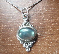 Labradorite Accented Oval 925 Sterling Silver Pendant