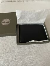 NEW Genuine TIMBERLAND Black Leather Bifold Wallet Gift Boxed