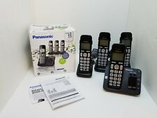 Panasonic KX-TG3634B Cordless Home Phone System & Answering Machine 4 Handsets