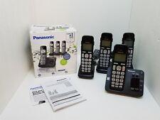 Panasonic Kx-Tg3634B Cordless Home Phone System & Answering Machine 4 Handsets