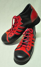 ZYKO Professional Real Leather Clown Shoes 3 Lines model (ZH040) Red/Black