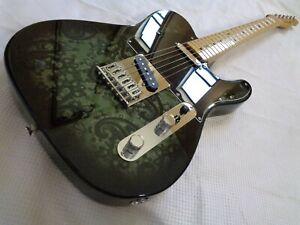 RARE 2012 Fender Special Edition Telecaster Black Paisley Maple Fretboard Guitar