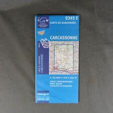 Carte IGN 2345 E - Série Bleue - Carcassonne ( Aude )