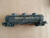 Vintage HO Scale Freight Car, Three Dome Tanker, Deep Rock