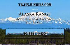 "TrainJunkies Ho Scale ""Alaska Range"" Model Railroad Backdrop 18x120"""