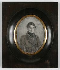 """Portrait of a Young Gentleman"", Italian Miniature, 1820s"