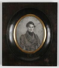 """Portrait of a Young Gentleman"", Italian Miniature, 1820s"