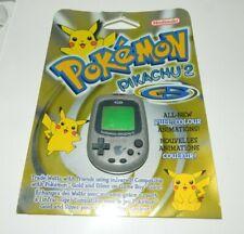 Pokemon Pikachu Silver GS 2 Virtual Pet Tamagotchi w/ Insert