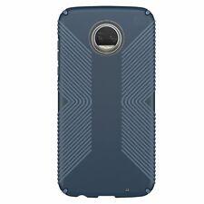 Speck Presidio Grip Case Motorola Moto Z2 Play Marine Blue Twilight Blue