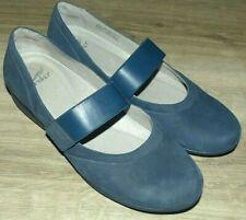 Perfect Women's Size 38 DANSKO KENDRA Low Wedge Heel Blue Suede Mary Jane Shoes