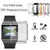 Protective Case TPU Shell Watch Frame Screen Protector For Fitbit ionic