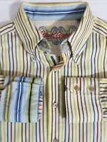 Robert Graham Men's Large Shirt Long Sleeve Flip Cuff Multicolor Striped