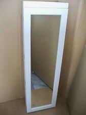 Schmuckschrank  Spiegelschrank mit 5 fach LED Beleuchtung  Weiß - Faserholz