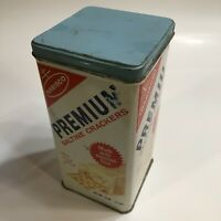 Saltine Crackers Tin Vintage 1969 Nabisco with Lid Kitchen Container Made in USA