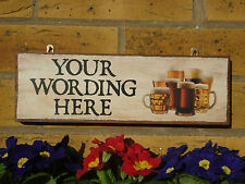PERSONALISED GARDEN DRINKS SIGN BEERS DRINKING SIGN HOME BREWERY PATIO SIGN BEER