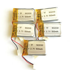 5 x 500mAh 3.7V Lipo Polymer Rechargeable Battery For mp3 DVD GPS camera 902030
