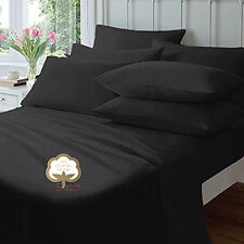 """100% EGYPTIAN COTTON EXTRA DEEP FITTED 40CM/16"""" 23CM/9""""  SHEETS PILLOW COVER"""