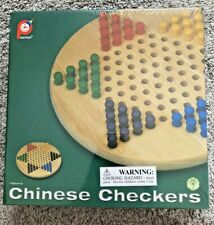 NEW Vintage Pintoy Chinese Checkers with Wood Board and Wood Marbles Thailand