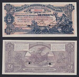 Argentina 1 peso 1891 Provincia Buenos Aires (Non Emesso) FDS-/UNC-  C-07