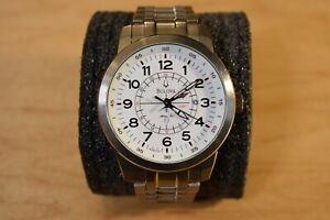 Bulova Marine Star 96B125 Titanium GMT Date Watch