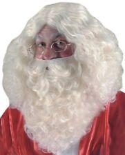 Parrucche e barbe bianchi per carnevale e teatro taglia taglia unica, tema natale