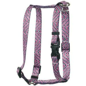 NEW Pink and Black Tweed Roman Style H Dog Harness by Yellow Dog Design