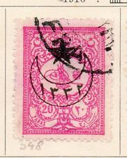 Turkey 1916 Early Issue Fine Used 20p. Star and Moon Optd 167804