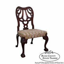 Vintage High Quality Georgian Style Claw Foot Side Chair