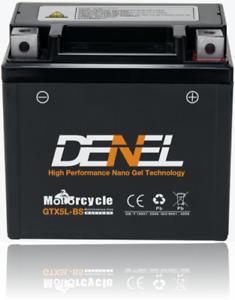【】GTX5L-BS Nano Gel AGM Motorcycle Battery 120 CCA YTX5L-BS RTX5L-BS
