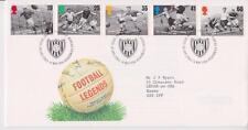 GB ROYAL MAIL FDC 1996 FOOTBALL LEGENDS STAMP SET BUREAU PMK