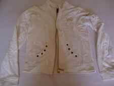 South Pole Juior Collection Girls Zip Up Sweater Jacket White M Medium Cotton