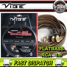 Vibe Audio Flatbass RCA dessin Plat 1 Mètre Voiture Bass Amplificateur Phono Leads Câble