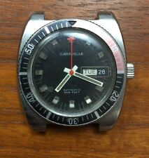 Vintage BULOVA CARAVELLE Diver's Pilot Watch 666ft Automatic Running