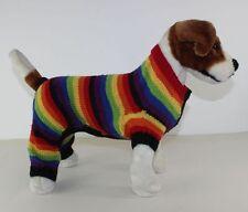 PRINTED KNITTING INSTRUCTIONS -  DOG RAINBOW STRIPE ROMPER COAT KNITTING PATTERN