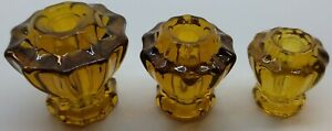 """1"""", 1-1/4"""", 1-1/2"""" Fluted Glass Knobs with Pan head screw antique vintage old"""