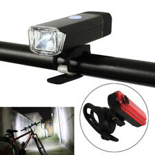 Bright USB LED Rechargeable Mountain Bike Bicycle Lights Headlight Taillight Set