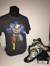 """Converse CT Hi DC Comics """"Batman"""" SZ 8 w/Justice League shirt Size M"""