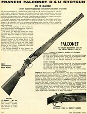 1972 Print Ad of Franchi 12ga Falconet O&U Lightweight Field Model Ebony Shotgun