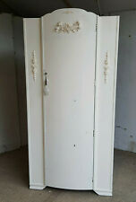 More details for antique,deco,painted,white,small,single,wardrobe,bow front,dome top,hanging
