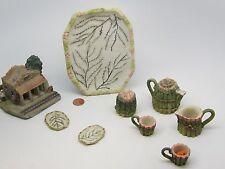 Vintage Lot Green Set Popular Imports Miniature/Mini+Santa Elena Train Station
