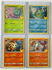 2021 McDonald's 25th Anniversary Pokemon PIKACHU CHARMANDER & MORE HOLO Cards!