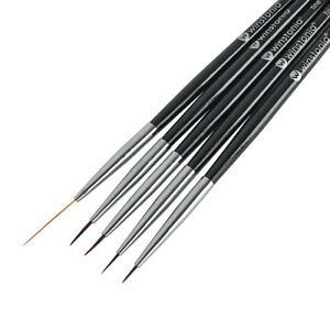 Winstonia Nail Art Brushes Liner Detailer Striping Brush FINE LINE Manicure Pens