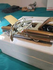 Danbury Mint 1958 Chevrolet Impala Convertible Gold Anniversary Edition